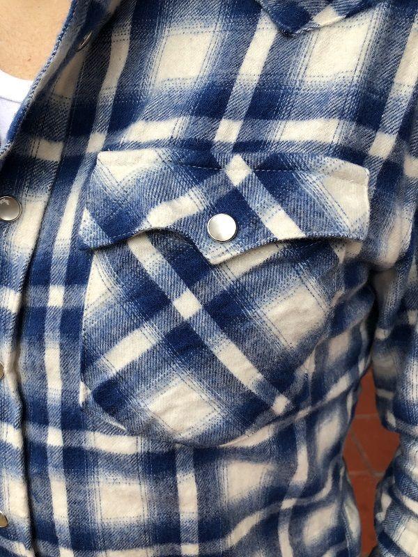 画像5: FULLNELSON フルネルソンオリジナル ウエスタンネルシャツ WHITE/BLUE