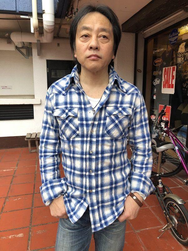 画像1: FULLNELSON フルネルソンオリジナル ウエスタンネルシャツ WHITE/BLUE