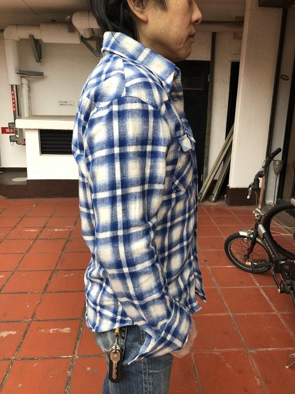 画像3: FULLNELSON フルネルソンオリジナル ウエスタンネルシャツ WHITE/BLUE