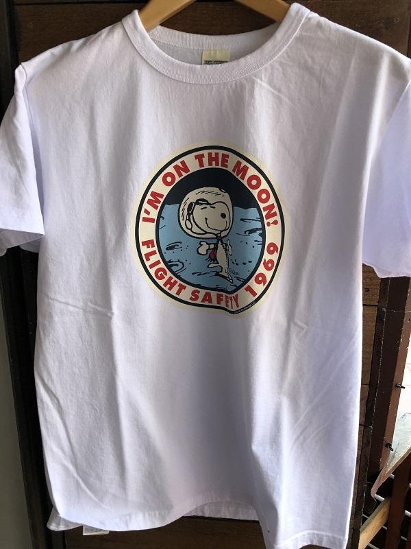 画像1: BUZZ RICKSONS スヌーピー半袖Tシャツ I'M ON THE MOON