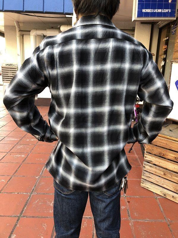 画像2: CUSHMAN レーヨンオンブレーチェックシャツ