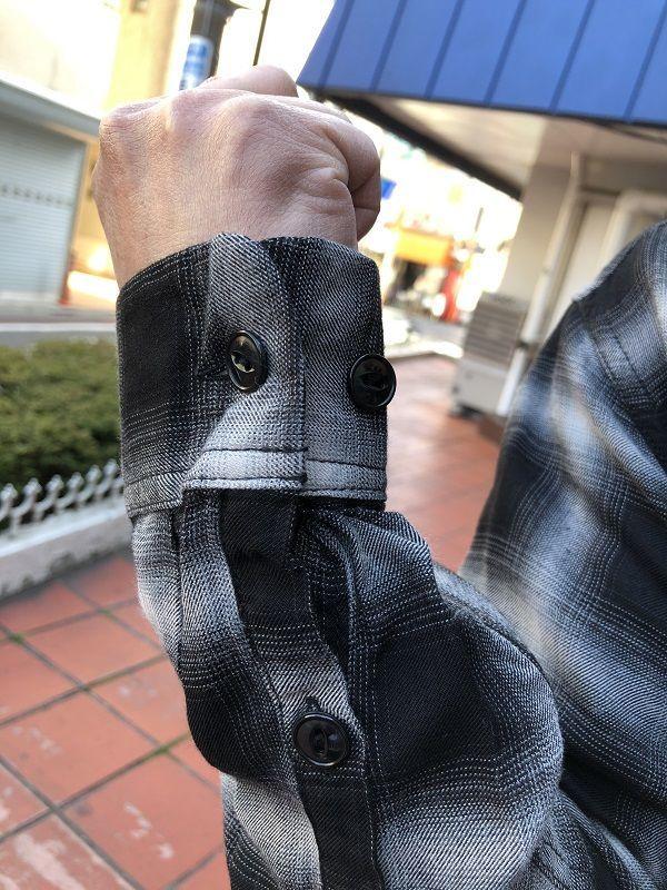 画像4: CUSHMAN レーヨンオンブレーチェックシャツ