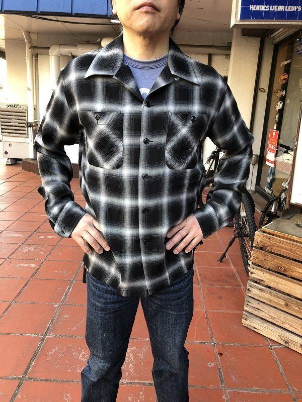 画像1: CUSHMAN レーヨンオンブレーチェックシャツ