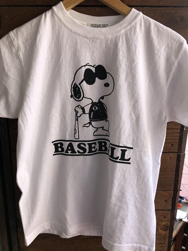 画像1: FULLNELSON×PEANUTS Tee フルネルソン×ピーナッツ スヌーピーTシャツ BASEBALL