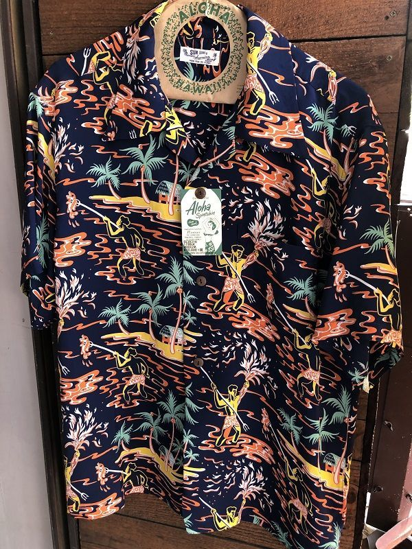 "画像1: SUN SURF サンサーフ アロハシャツ S/S HAWAIIAN SHIRT ""TORCH FISHERMAN"""