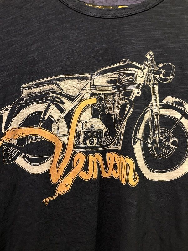 画像2: Johnson Motors'Inc VENOM VELO S/S tee ジョンソンモータース半袖Tシャツ VINTAGE BLACK