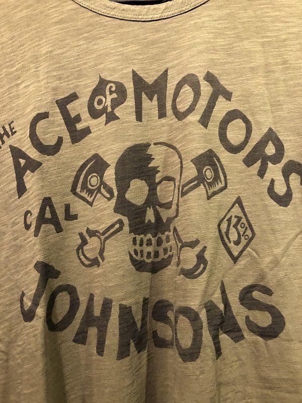 画像2: Johnson Motors'Inc ACE MOTORS S/S tee ジョンソンモータース半袖Tシャツ ARMY GREEN