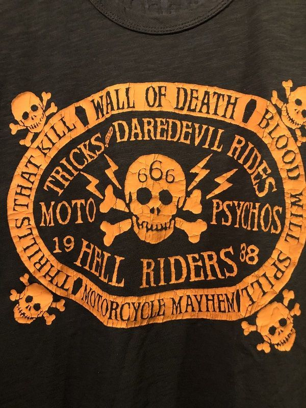 画像2: Johnson Motors'Inc WALL OF DEATH S/S tee ジョンソンモータース半袖Tシャツ VINTAGE BLACK