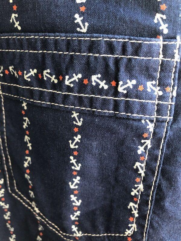画像2: CUSHMAN クッシュマン コットンリネン アンカー ウォバッシュ ワークシャツ
