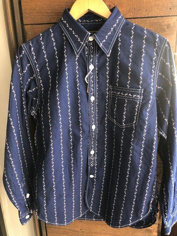 画像1: CUSHMAN クッシュマン コットンリネン アンカー ウォバッシュ ワークシャツ