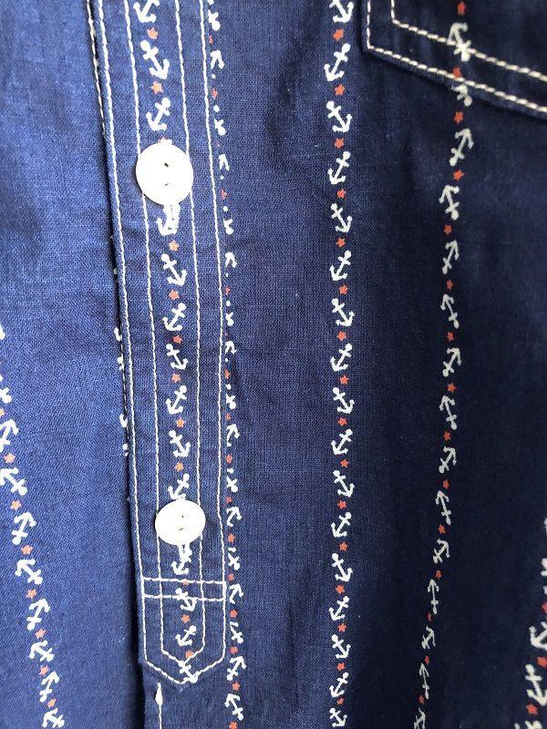 画像3: CUSHMAN クッシュマン コットンリネン アンカー ウォバッシュ ワークシャツ