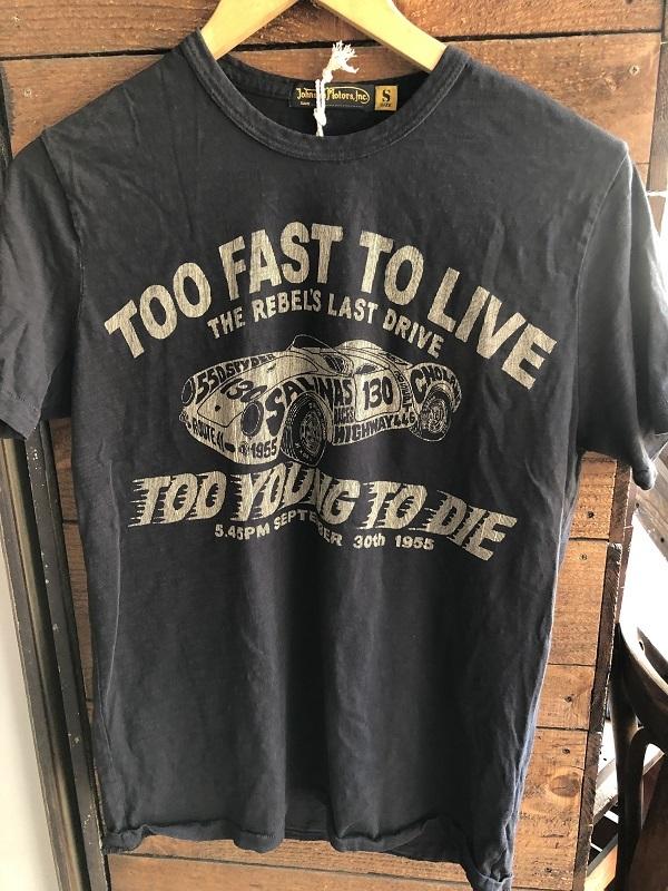 画像1: Johnson Motors'Inc TOO FAST S/S tee ジョンソンモータース半袖Tシャツ OILED BLACK