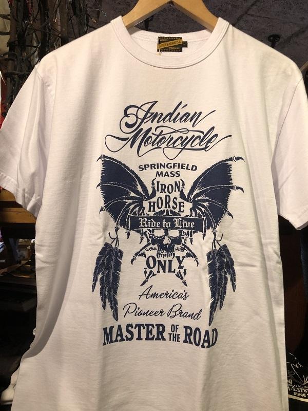 """画像1: INDIAN MOTORCYCLE T-SHIRT 半袖ライダーTシャツ """"BAT SKELETON"""""""