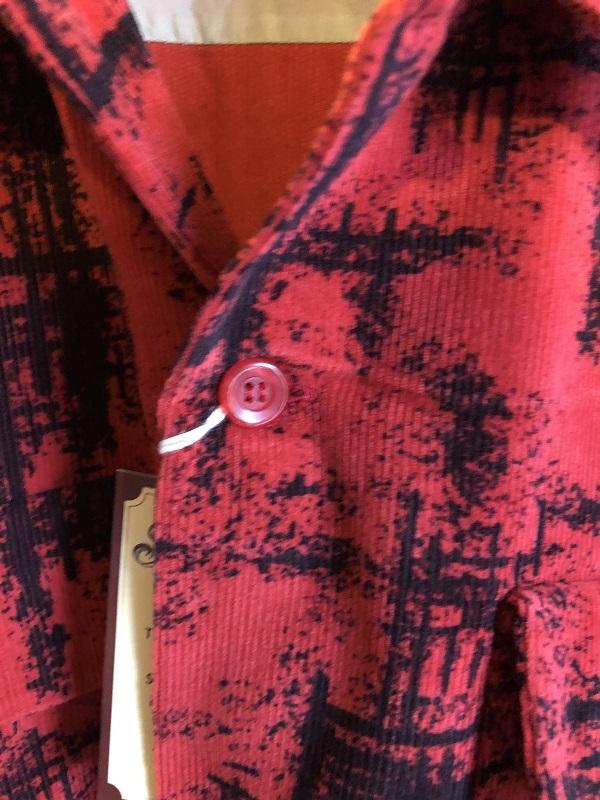 画像3: STYLE EYES オープンカラー コーデュロイシャツ RED