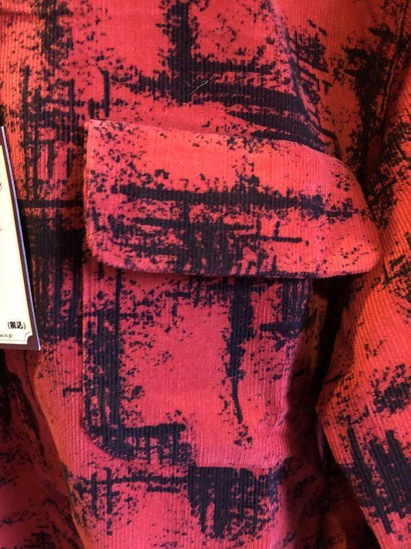 画像2: STYLE EYES オープンカラー コーデュロイシャツ RED