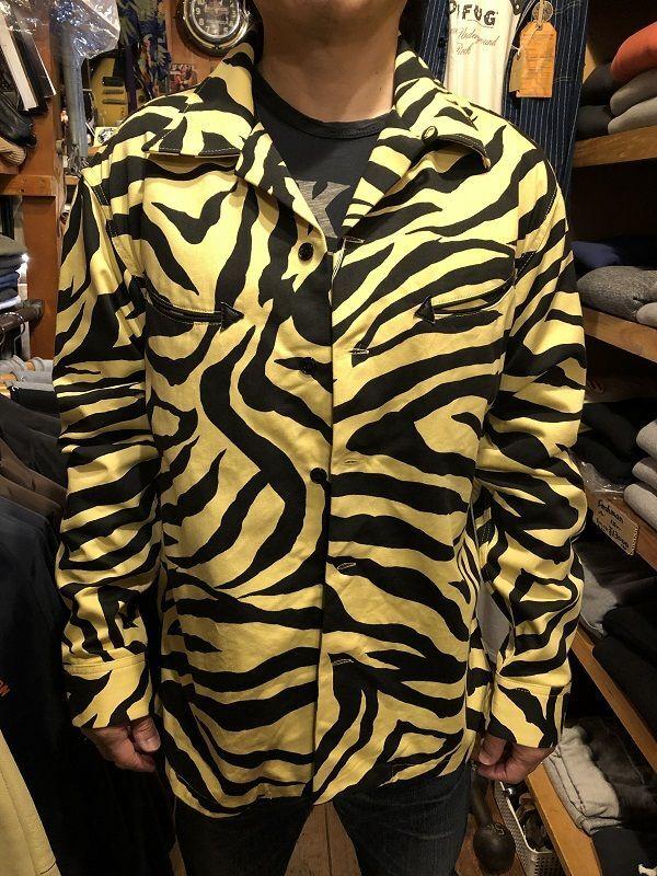 画像1: CUSHMAN TIGER PRINT オープンシャツ