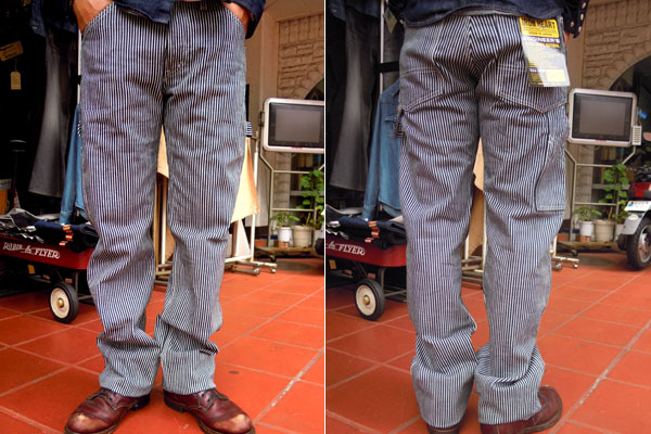画像2: IRON HEART エンジニアペインターパンツEXTRA HEAVY HICKORY ENGINEER PAINTR PANTS