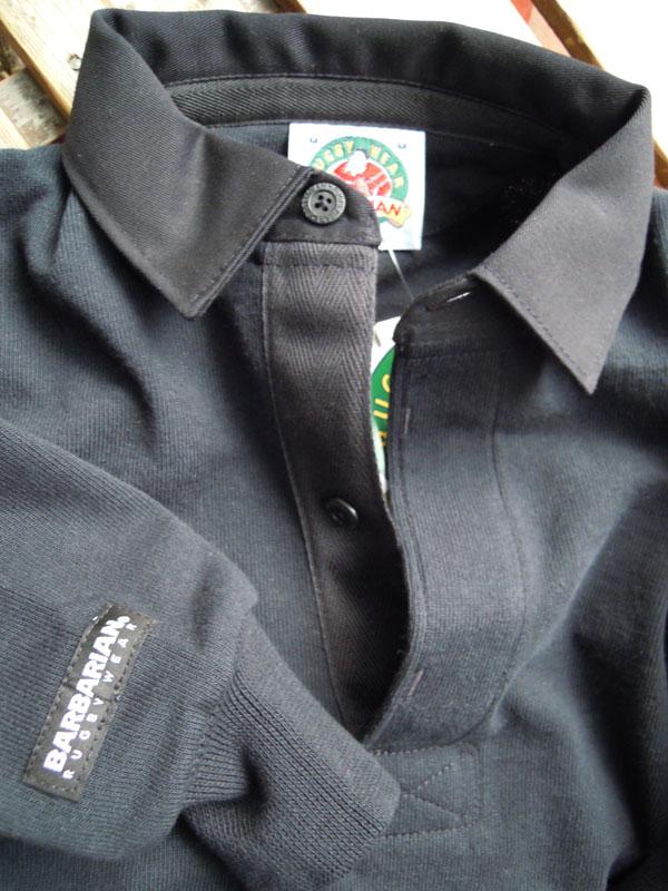 画像4: BARBARIANバーバリアン ラガーシャツ BLACK