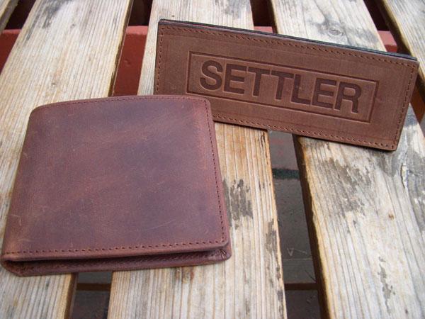 画像1:  SETTLER セトラー 二つ折りウォレット WALLET with COINCASE