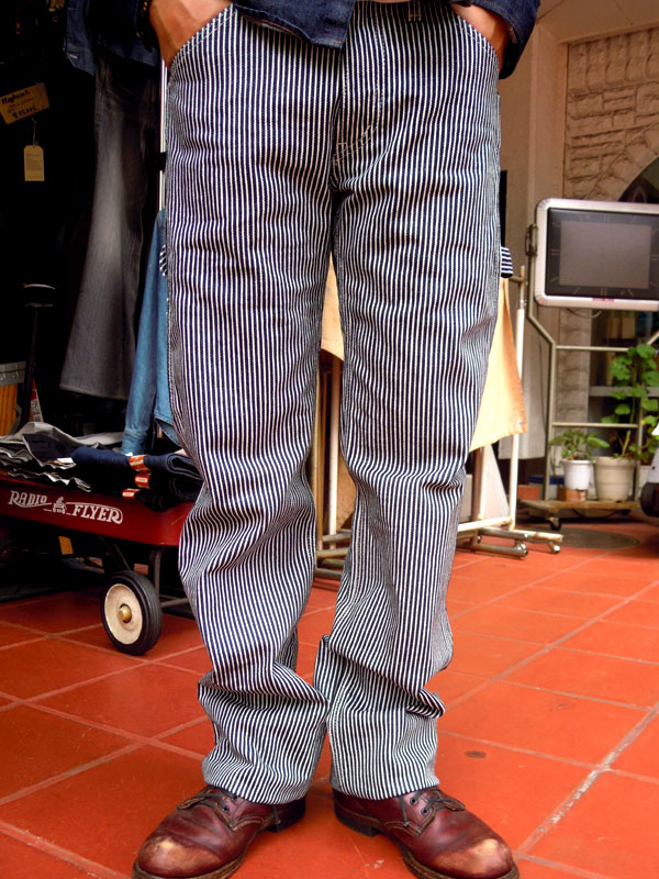 画像1: IRON HEART エンジニアペインターパンツEXTRA HEAVY HICKORY ENGINEER PAINTR PANTS